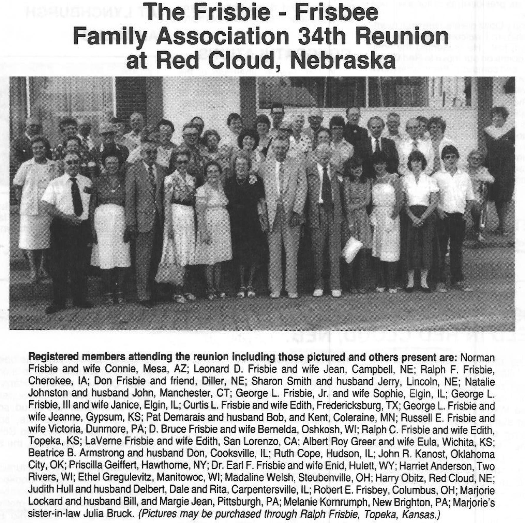 1984 FFFAA Reunion Red Cloud NE