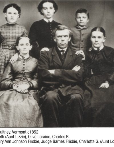 Judge Barnes Frisbie Family Middletown, VT c1900