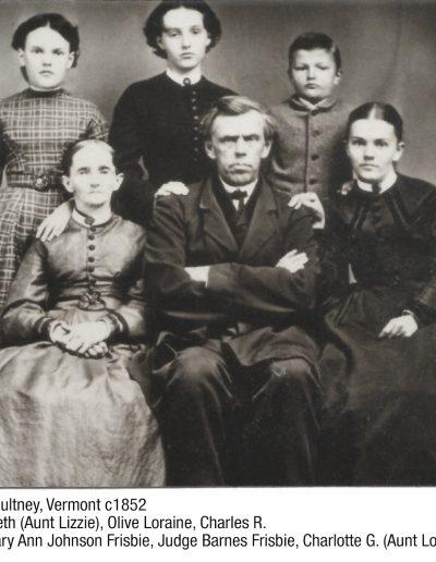 Judge Barnes Frisbie Family Middletown, VT c1900